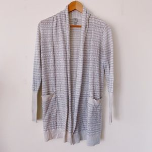 TRISTAN Size Small Knit very light blue and white Casual Long open Tunic